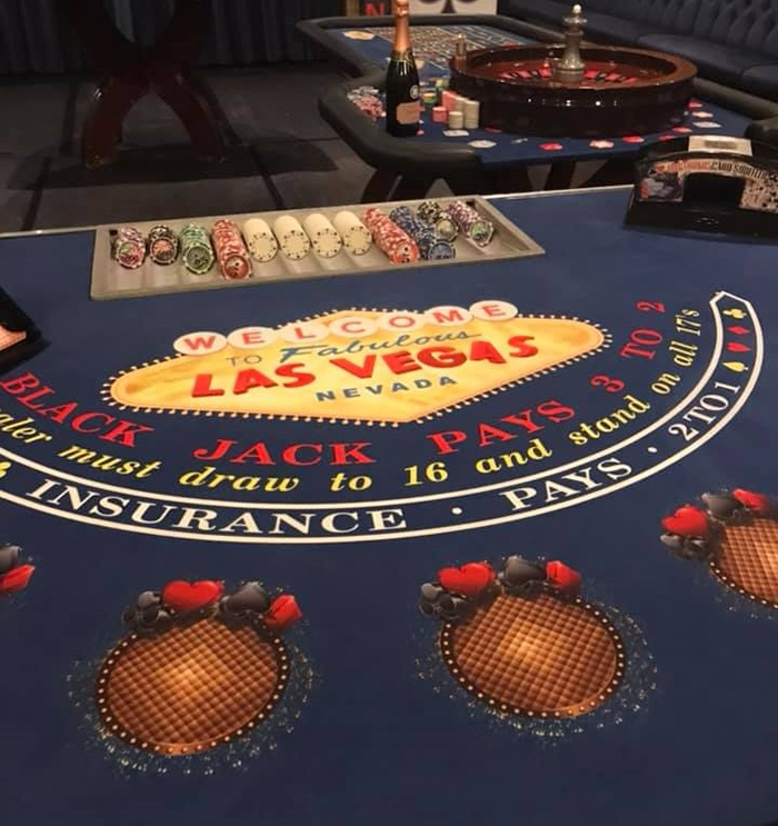 Vegas theme roulette tables for hire