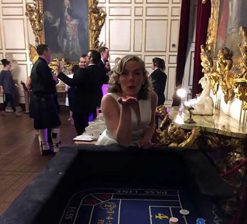 wedding casino table