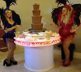 Chocolate fountains, candy buffets & carts, popcorn & floss machine