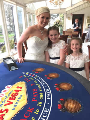 wedding casino hire reception